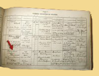 Robert Louis Stevenson's death record